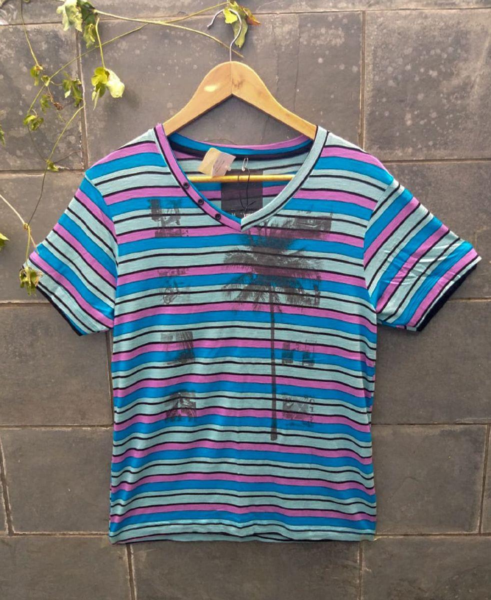 camisa manga curta colorida - camisetas dixie-jeans
