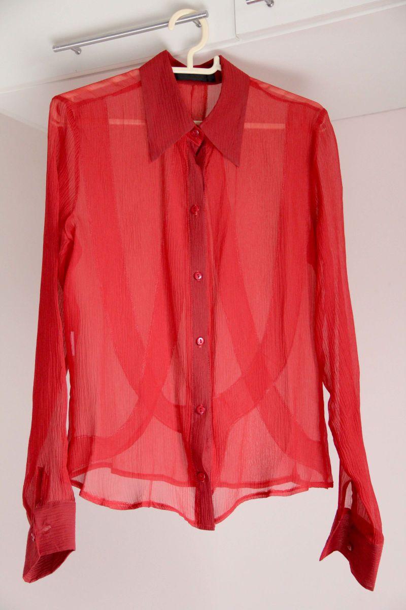 601f153bd2 camisa manga longa em seda vermelha tam. 38 - camisas cúmplice