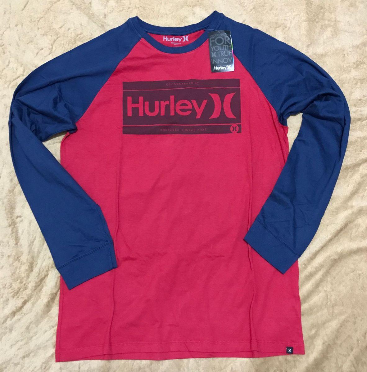 camisa manga longa hurley tam. g - camisas hurley 2eea9ae24da7b
