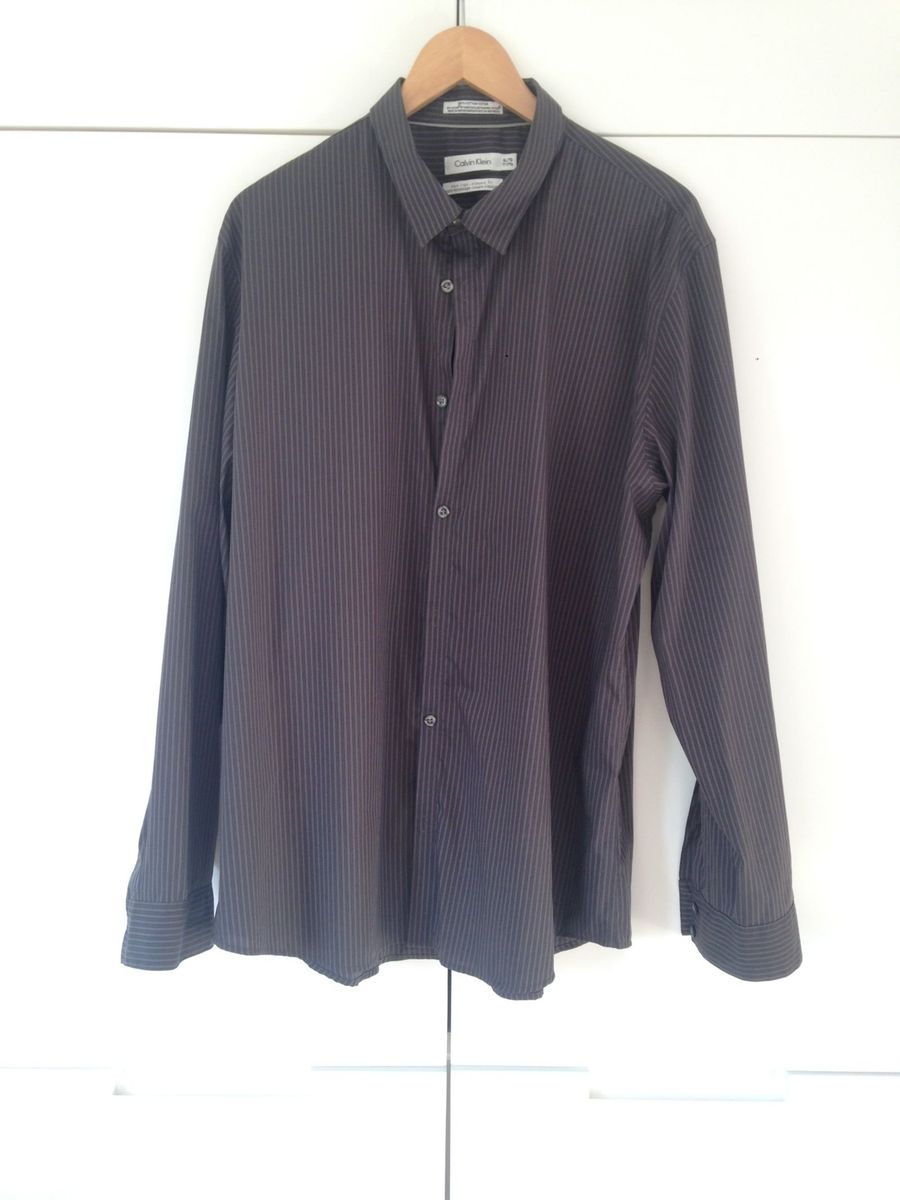 597c1f7f37ef5 Camisa Masculina Calvin Klein Xl   Tg   Camisa Masculina Calvin ...