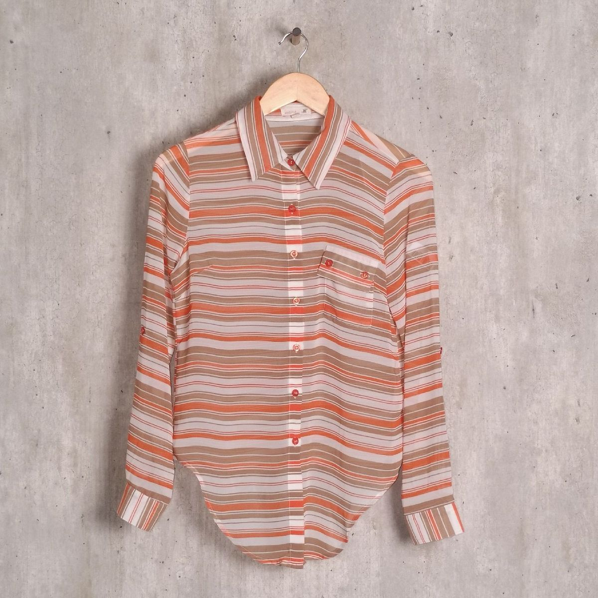 camisa multicolor listrada - camisas mine