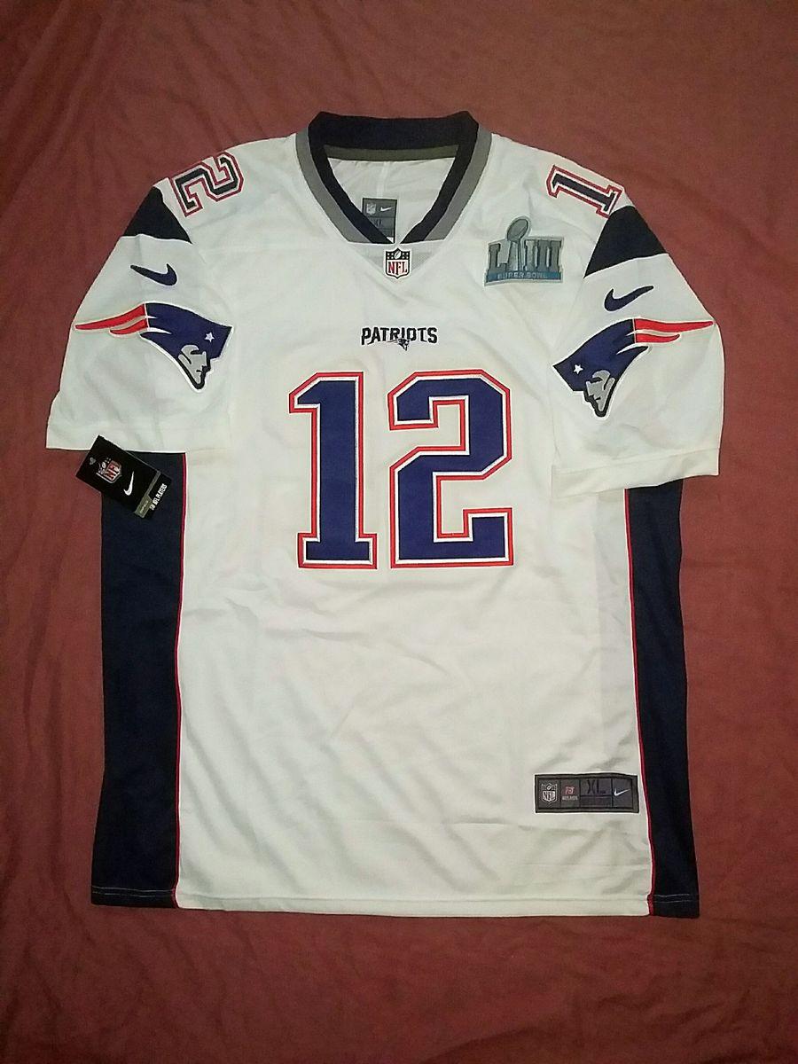 Beber agua gastar heredar  Camisa Nike Nfl New England Patriots Tom Brady Branca Super Bowl 53 |  Camiseta Masculina Nike Nunca Usado 33404007 | enjoei