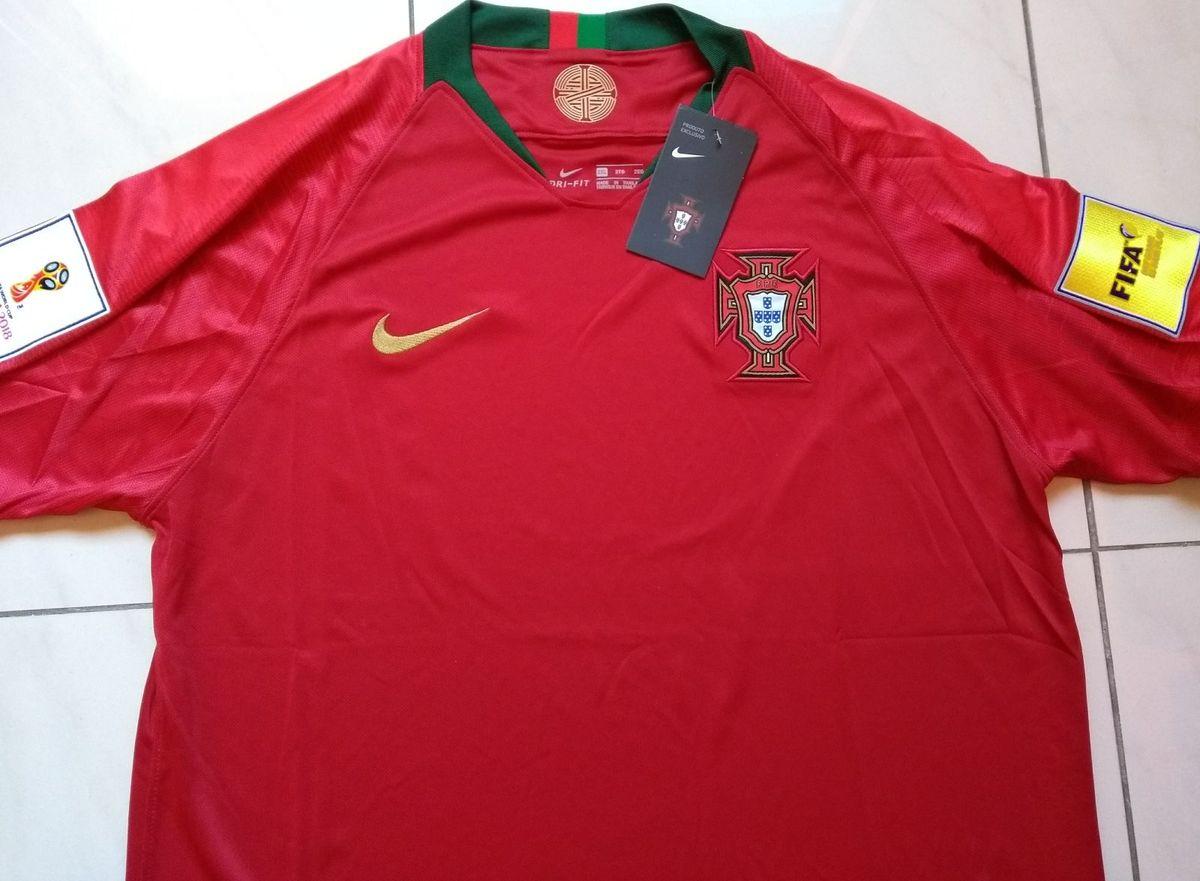 Camisa Nike Portugal Original 2018 Home Copa do Mundo Russia ... cb3b3d4be86d2