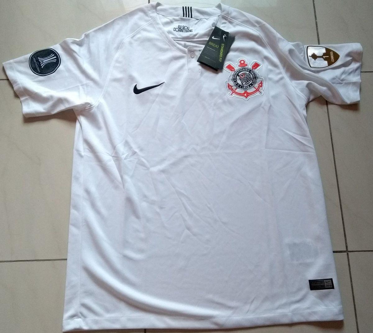 camisa nike sc corinthians original modelo 2018 home + patchs inclusos - camisas  nike 86c1c8e9527ae