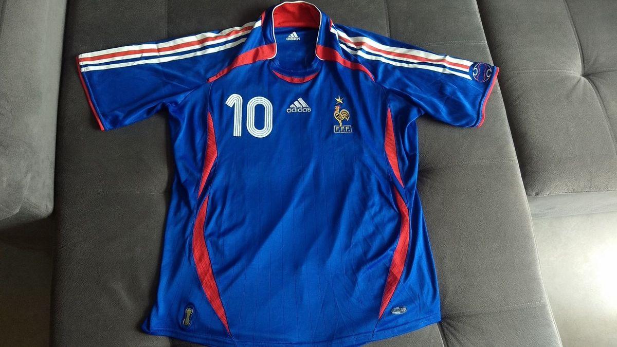 camisa oficial adidas da frança da copa de 2006 zidane   10 - camisas adidas 827393d2b972a