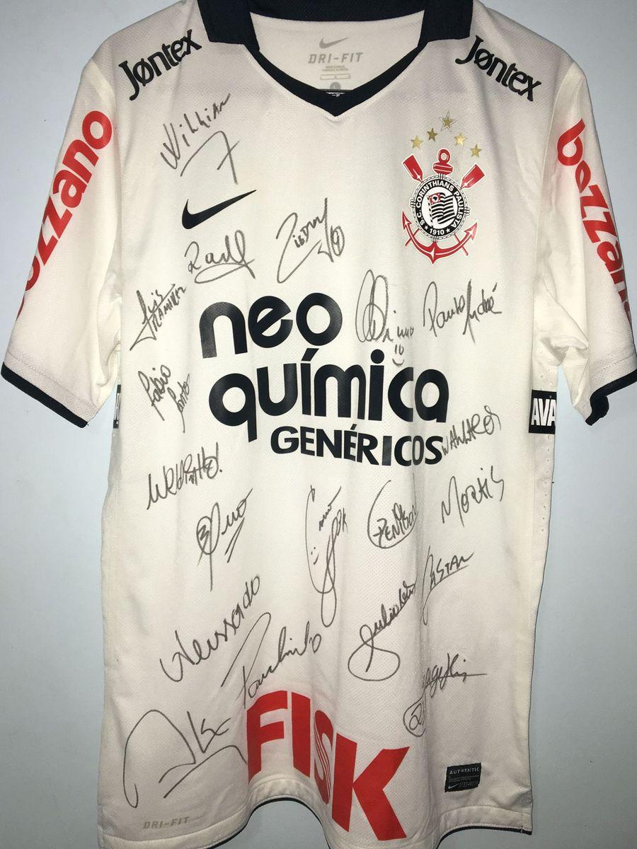 camisa oficial autografada corinthians 2011 2012 - esportes corinthians e5a24d664df4e