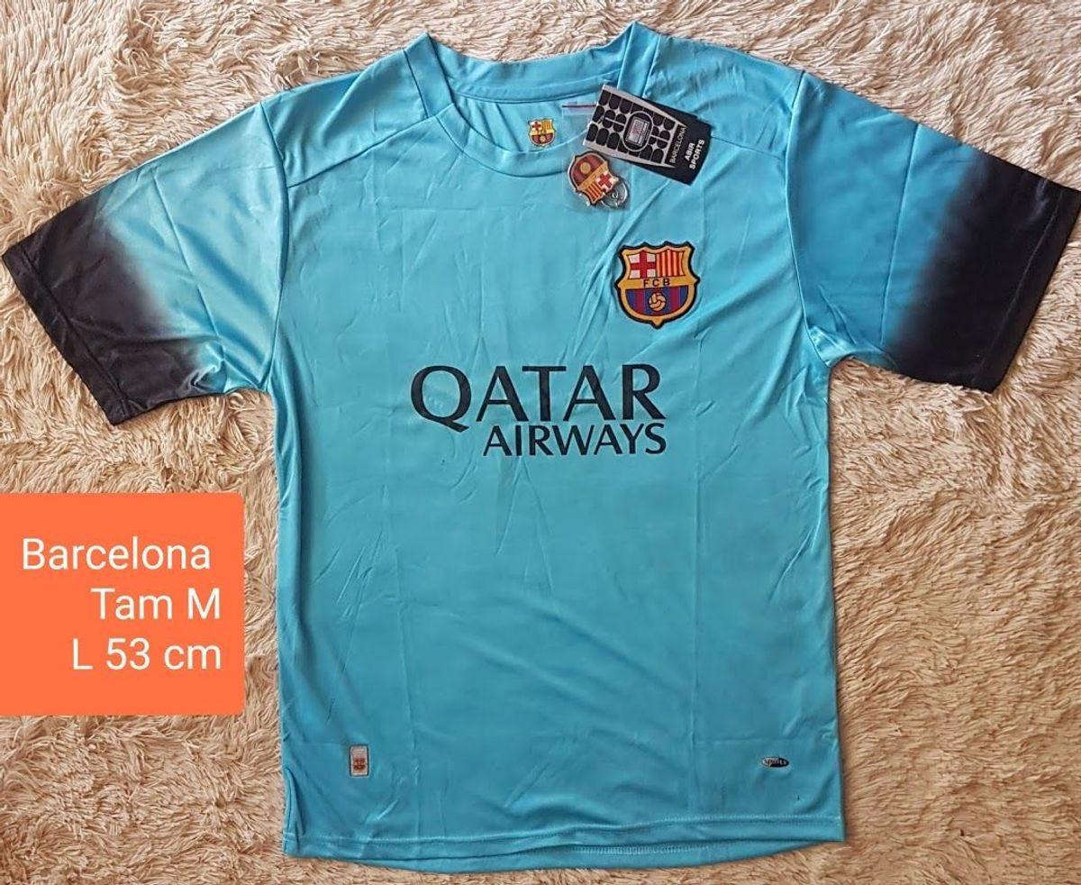 Camisa Oficial Barcelona Azul Neymar 11 Tam M Camisa Feminina Barcelona Nunca Usado 37857385 Enjoei