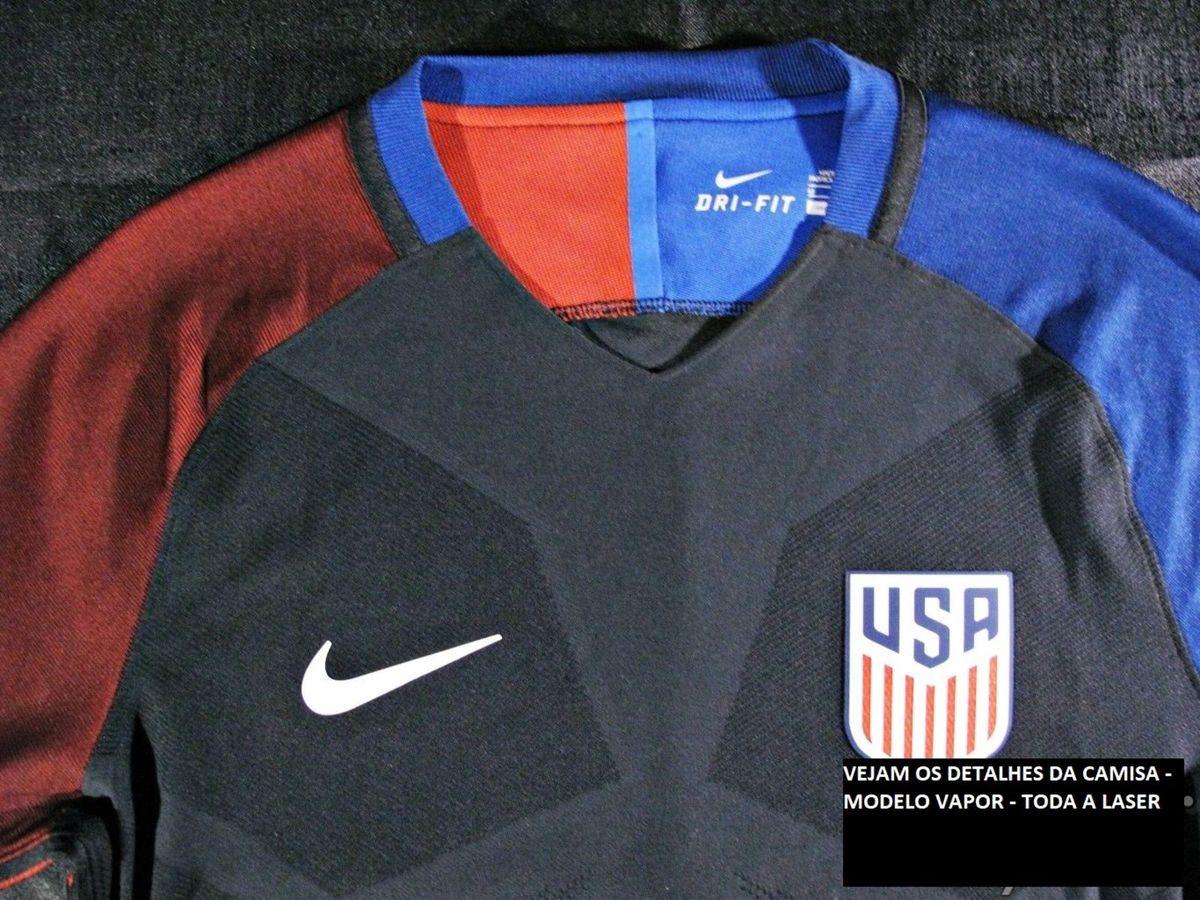 7b372f8e31298 Camisa Oficial Nike da Seleção Americana Estados Unidos de Futebol Modelo  Jogador