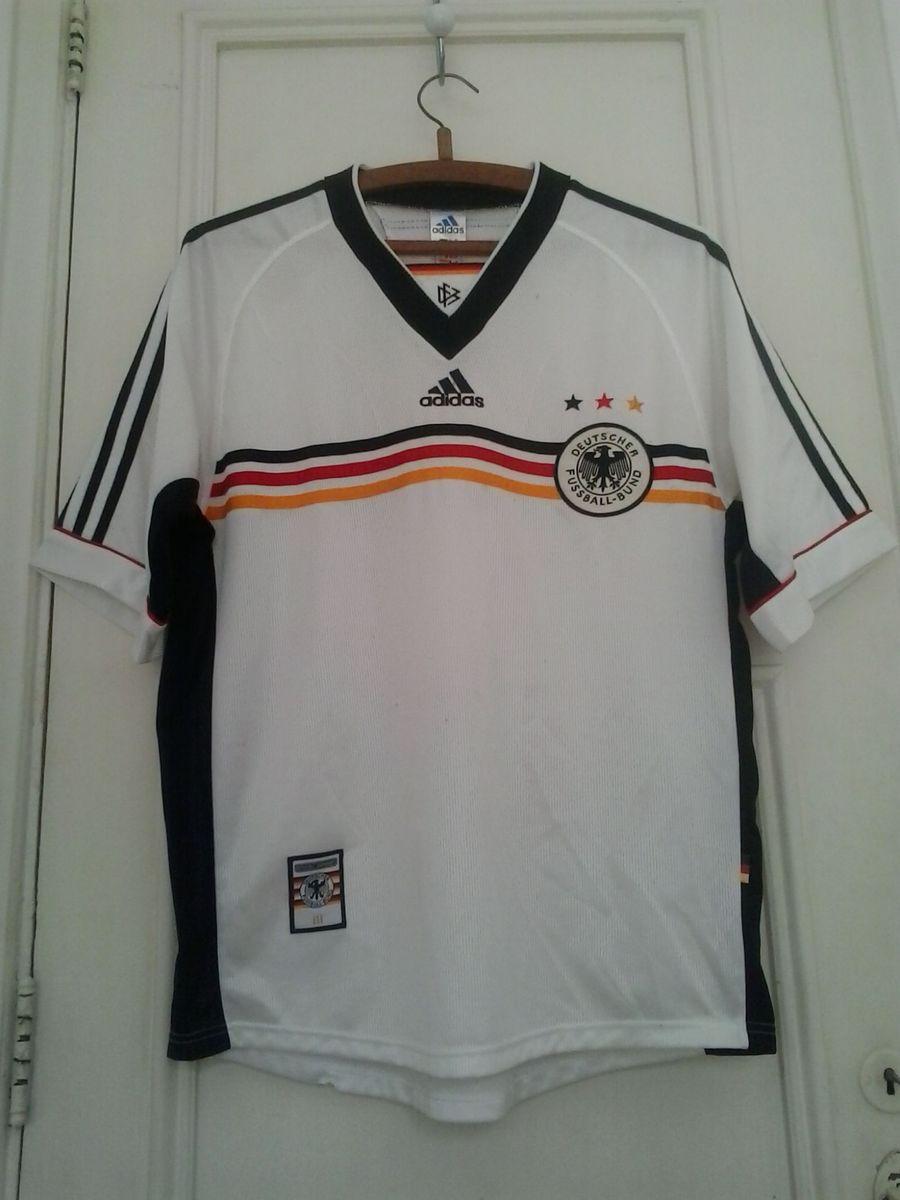 fcfed4fd9c camisa oficial seleção alemanha retrô 1998 - esportes adidas