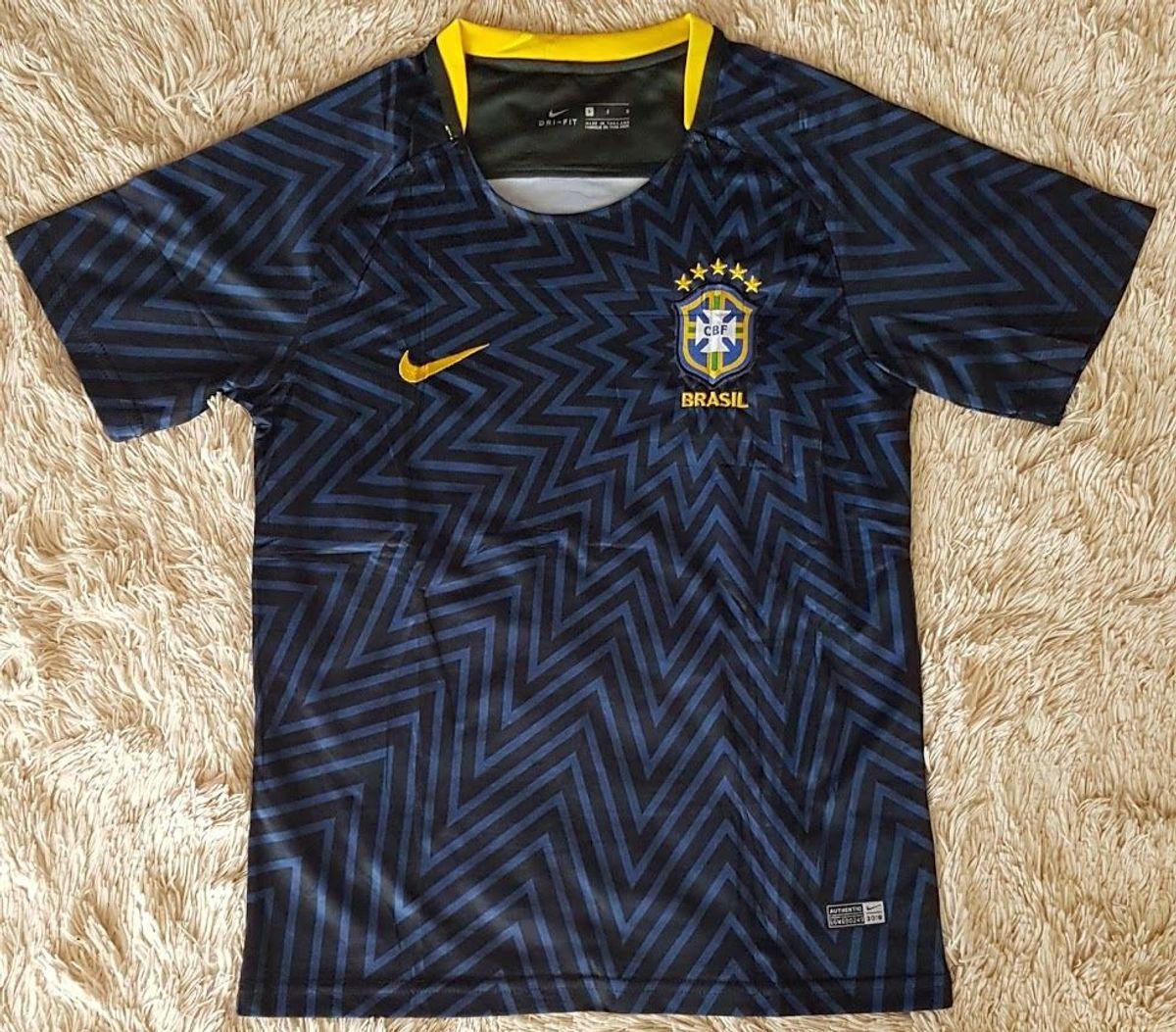 Camisa Oficial Selecao Brasileira Copa 2018 Azul Treino Tam P E M Roupa Esportiva Masculino Nike Nunca Usado 38094231 Enjoei