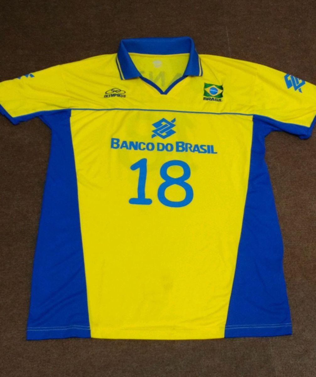 b36e0be7462d8 camisa oficial seleção brasileira de vôlei - dante 18 - camisas olympikus