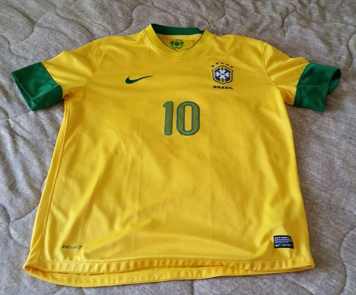 123dad6119 camisa original da seleção brasileira neymar 10 oficial copa 2014 - camisetas  nike