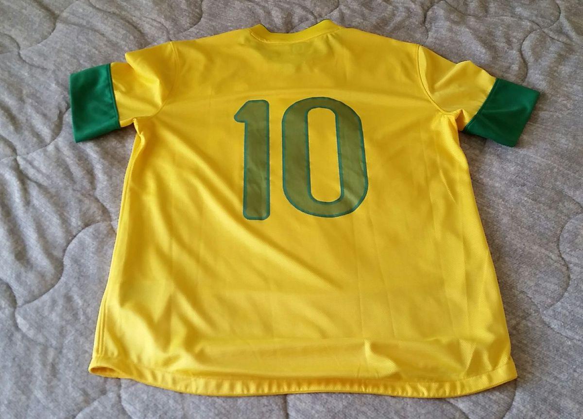 13acb68429 Camisa Original da Seleção Brasileira Neymar 10 Oficial Copa 2014 ...