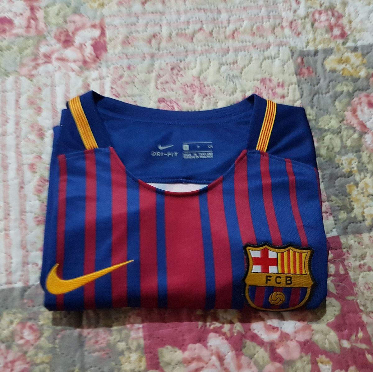 camisa original do barcelona 2017 2018 tamanho p - camisas nike 6eea6e32e6847