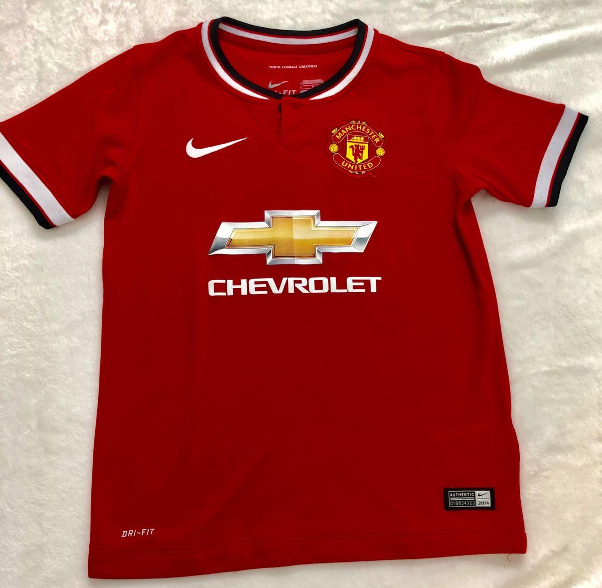 89cb0a576b243 camisa original manchester united p infantil - menino nike