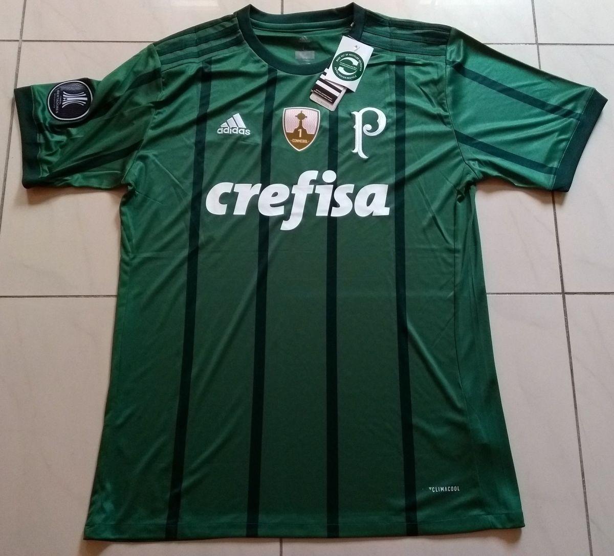 camisa palmeiras original 2017 home verde patchs libertadores l-6 camisas -  esportes adidas 20b06c5d6a8fe