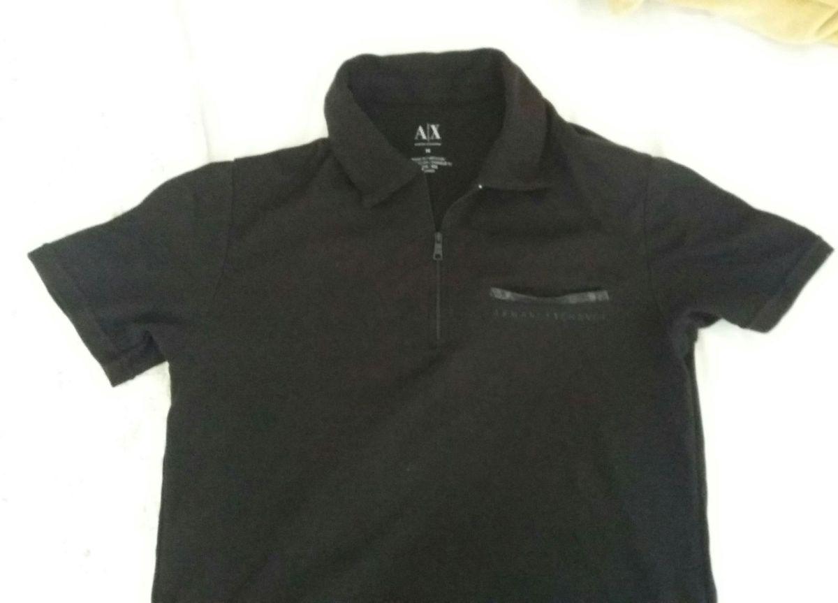 camisa polo armani exchange preta - camisas armani-exchange c7ffa9ce61bff