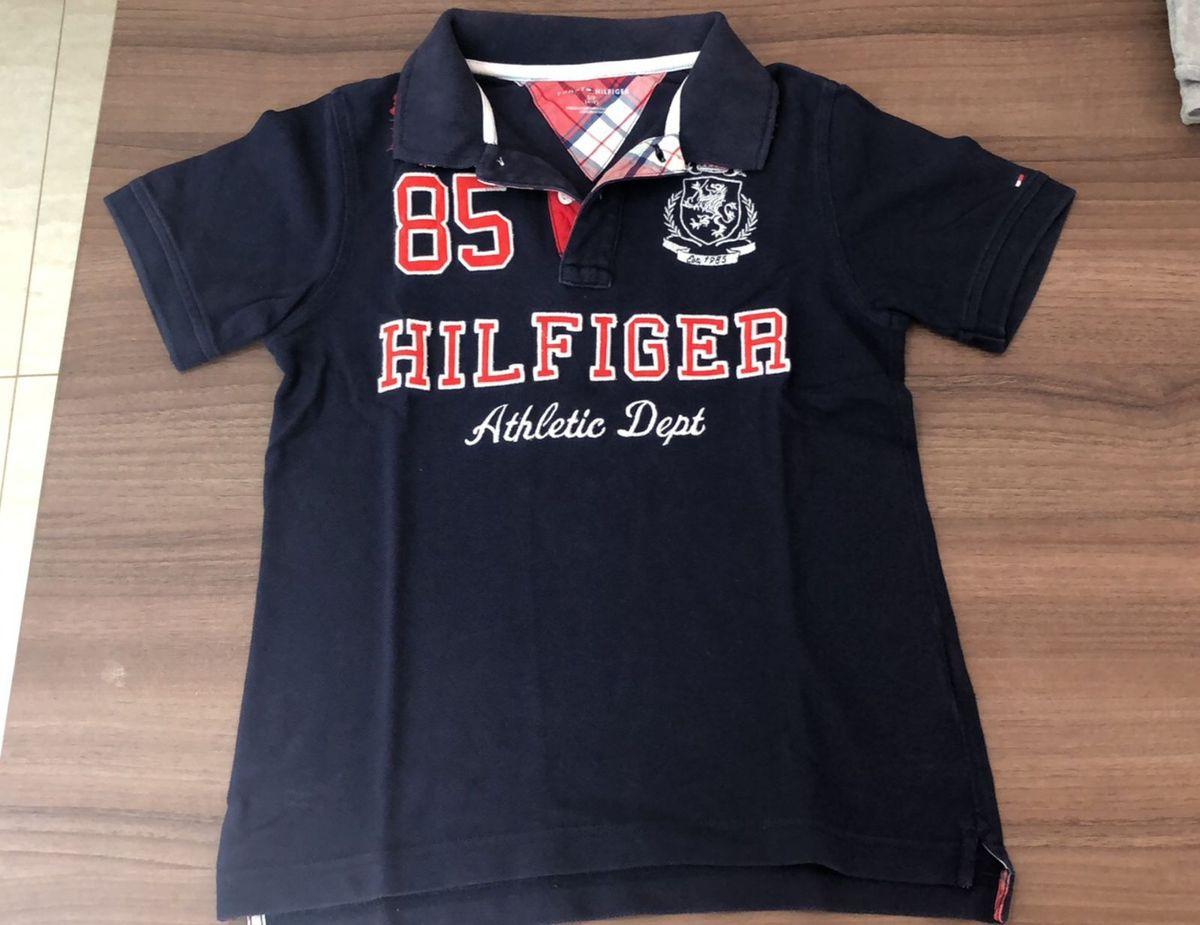bf03e0ccd Camisa Polo Azul e Vermelha Tommy Hilfiger | Roupa Infantil para ...