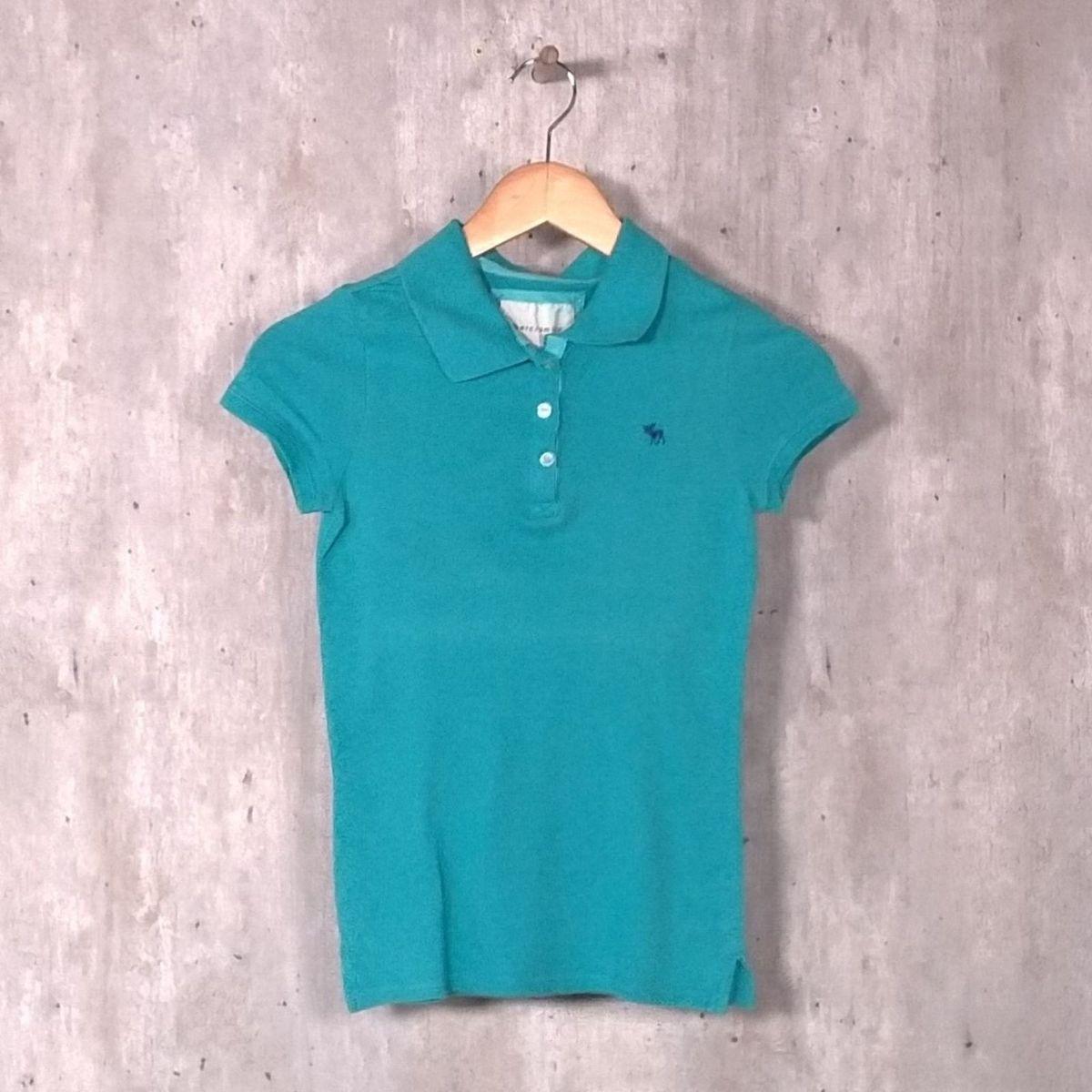 9f264cb9b7 camisa polo azul turquesa - camisas abercrombie   fitch