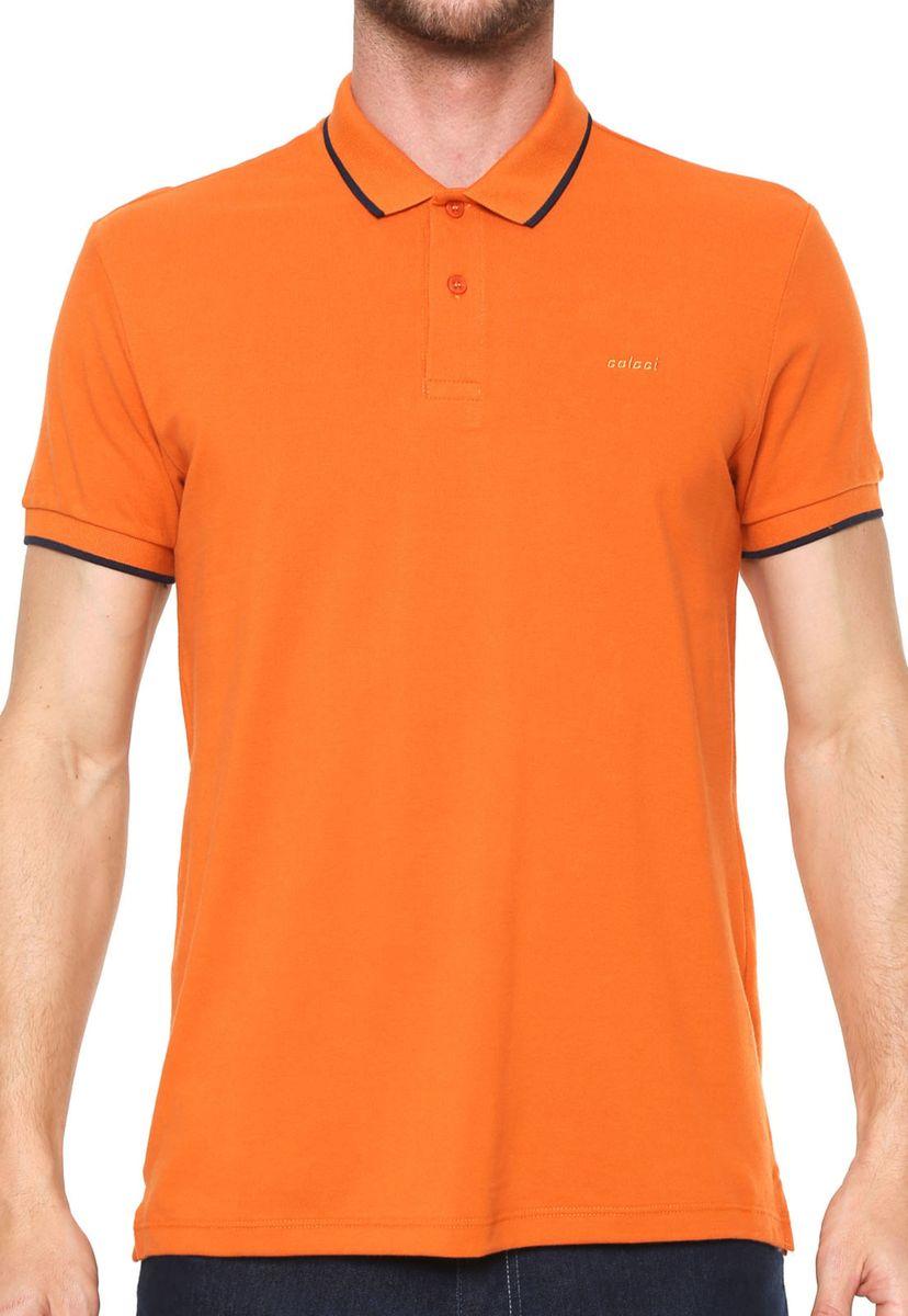 368a2e988 Camisa Polo Colcci Reta Listra Laranja | Camisa Masculina Colcci ...