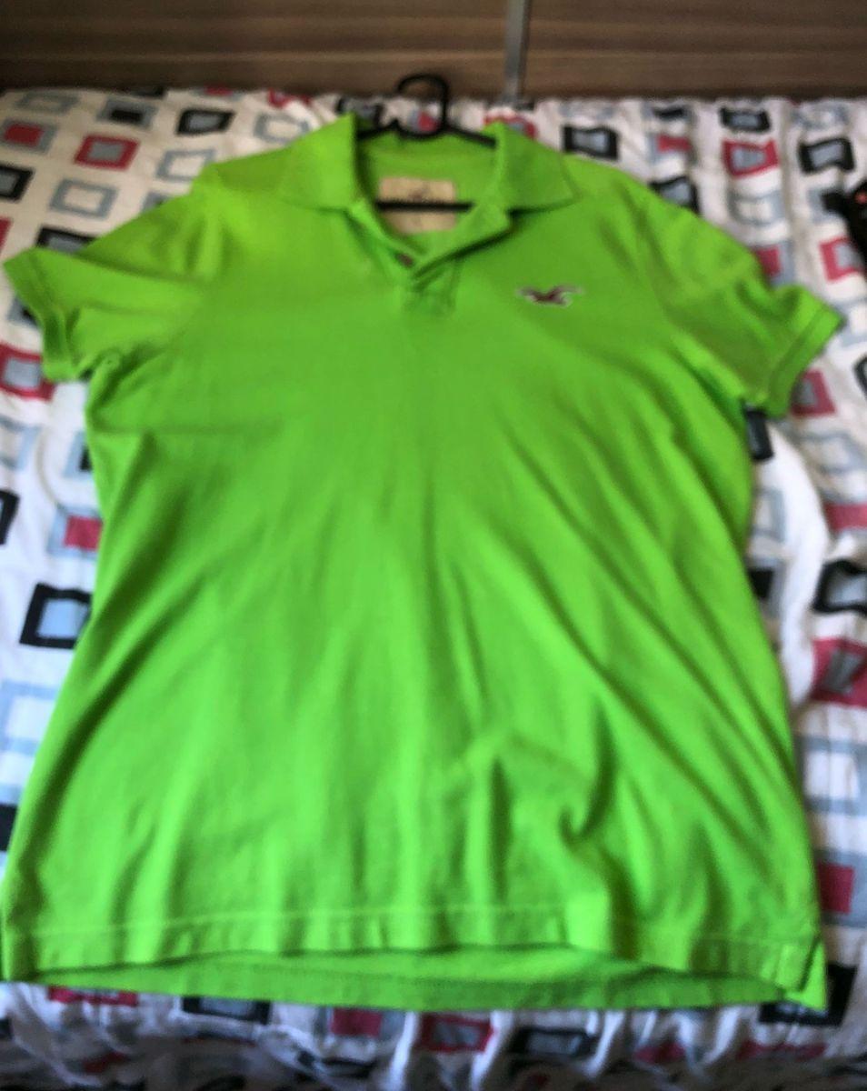 b51f77e59a camisa polo da hollister verde - camisas hollister