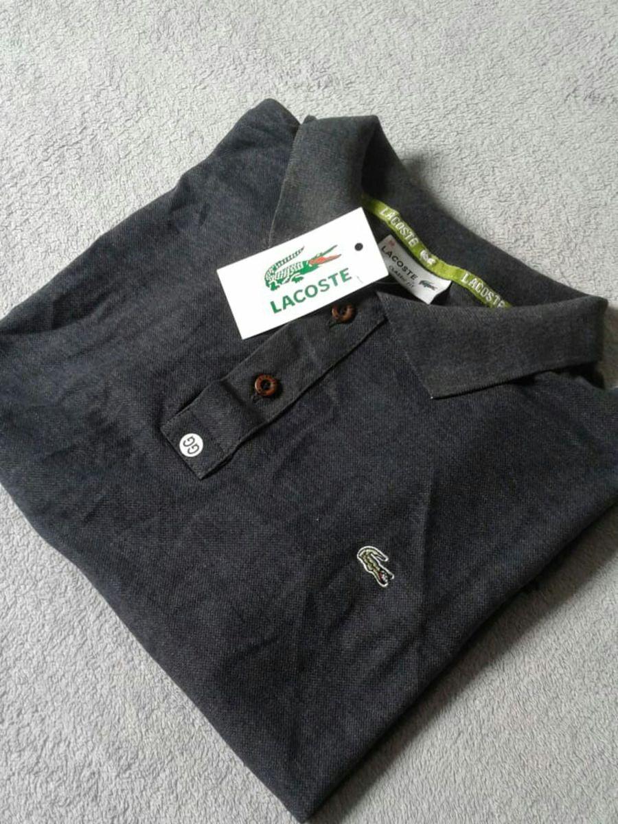 a9a1e462b713f Camisa Polo da Marca Lacoste Gg   Camisa Masculina Lacoste Nunca ...