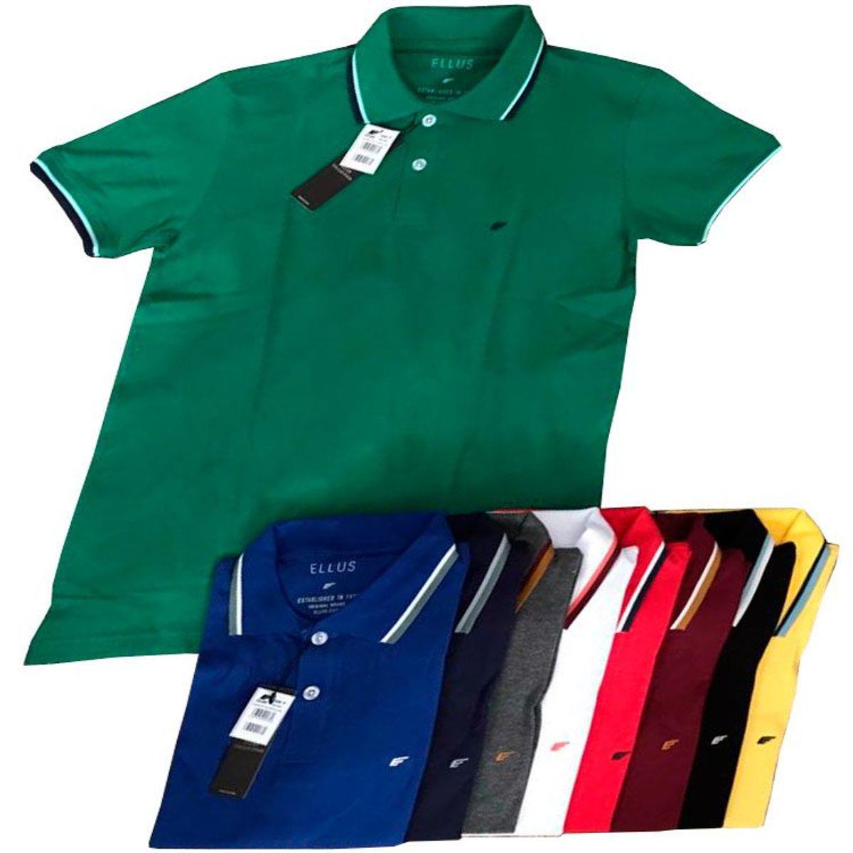 b205a8d341e5a Camisa Polo Ellus Masculino Cores Quentes Verão 2019 Tam.p