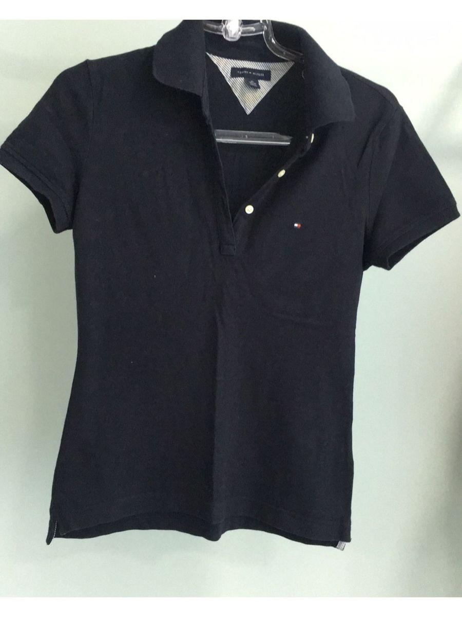 7b3cbfa22b5a4 camisa polo feminina azul marinho tommy - camisas tommy hilfiger