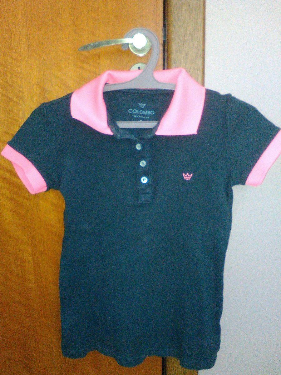 f70d016f30 camisa polo feminina com detalhe - camisetas camisaria-colombo