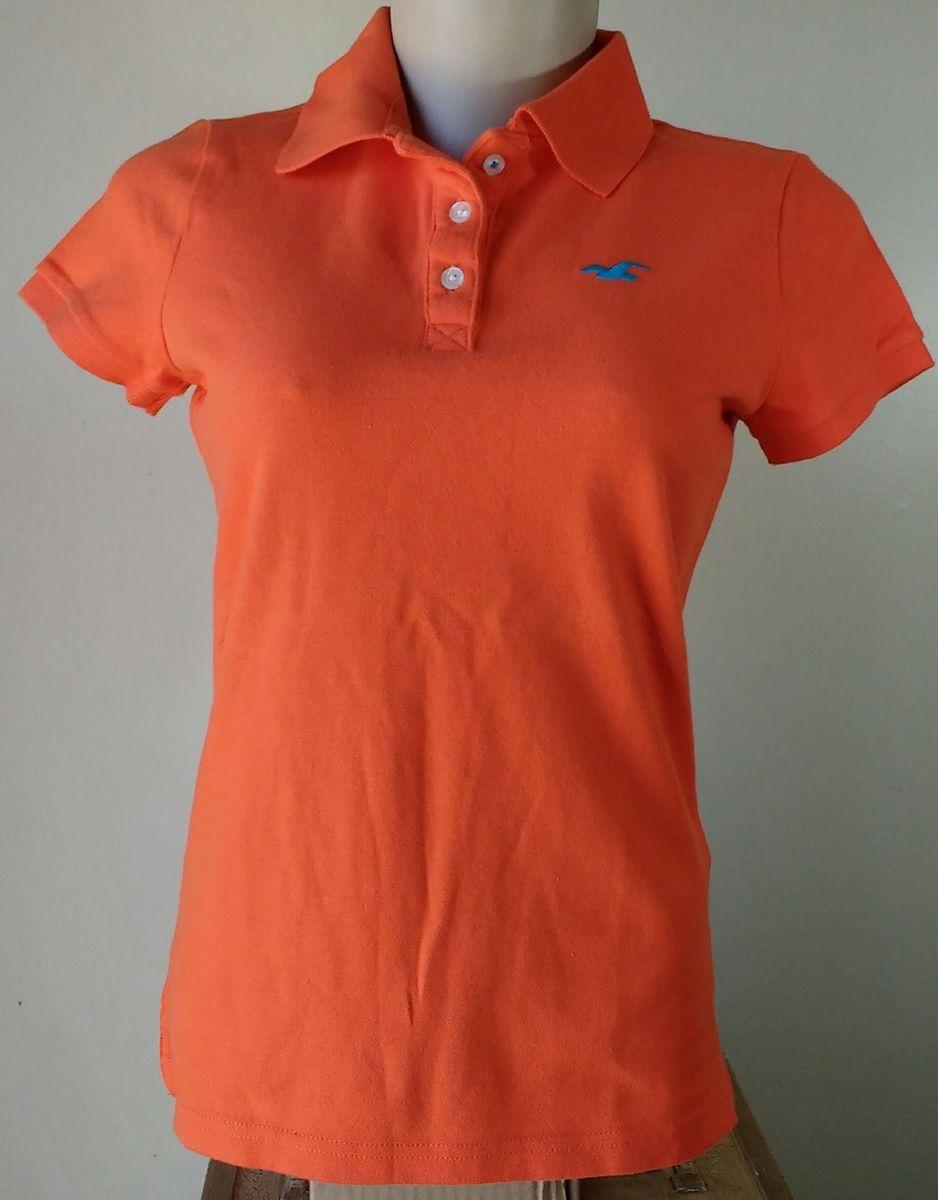 63d10cb6c8 camisa polo feminina hollister original   pp - camisas hollister