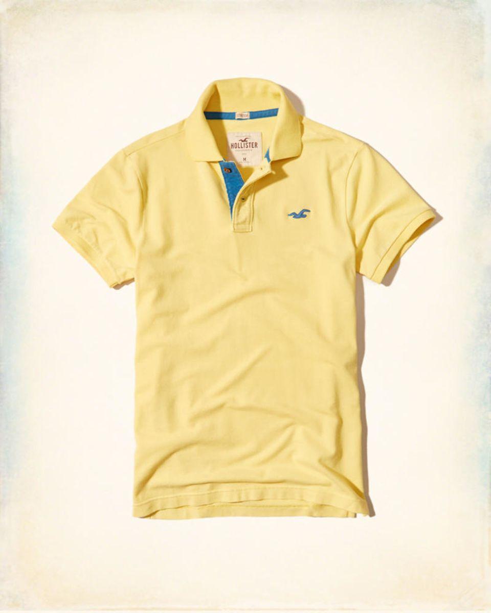 6ce4bd628a camisa pólo hollister original amarelo + azul - camisas hollister co