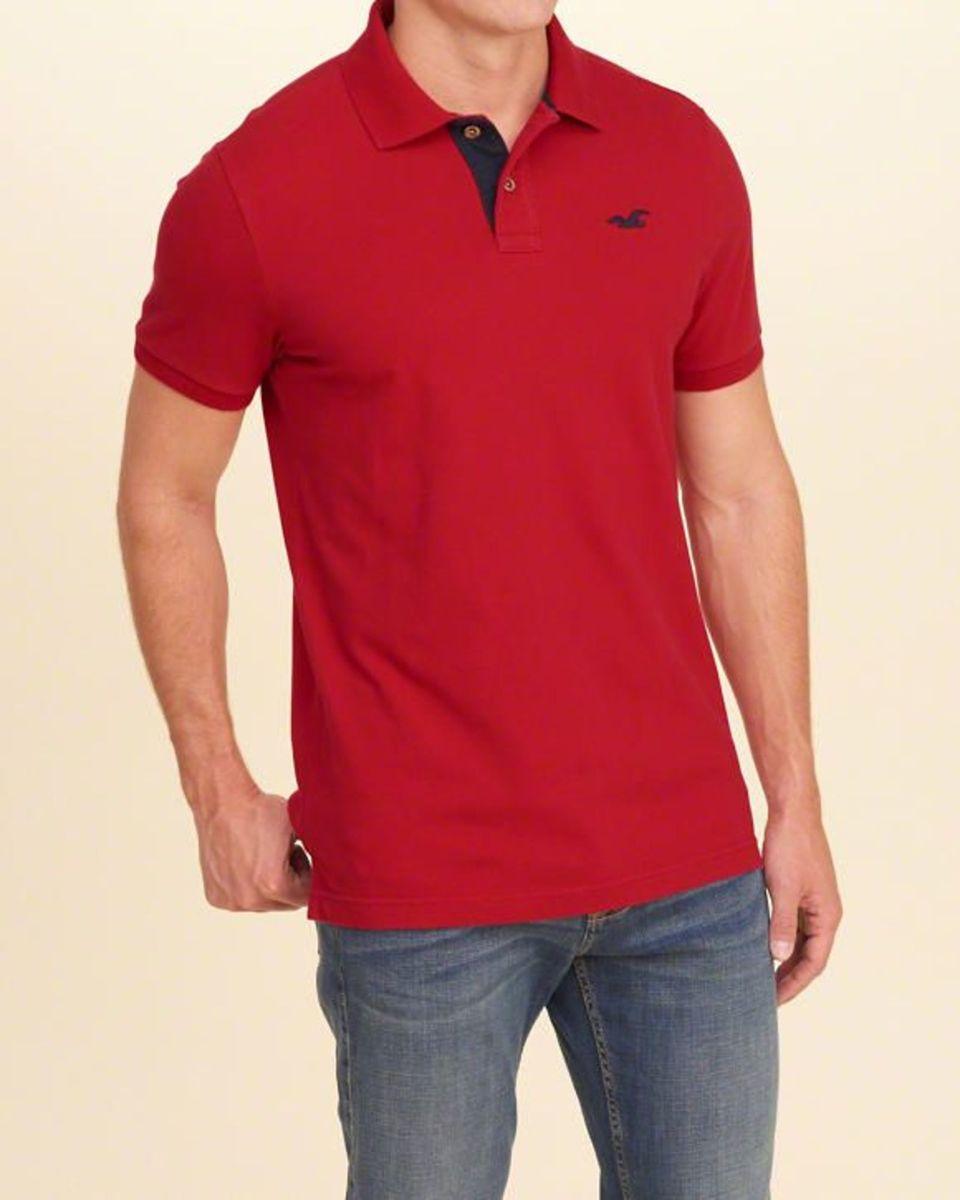 63b460a6b camisa polo hollister vermelha - camisas hollister
