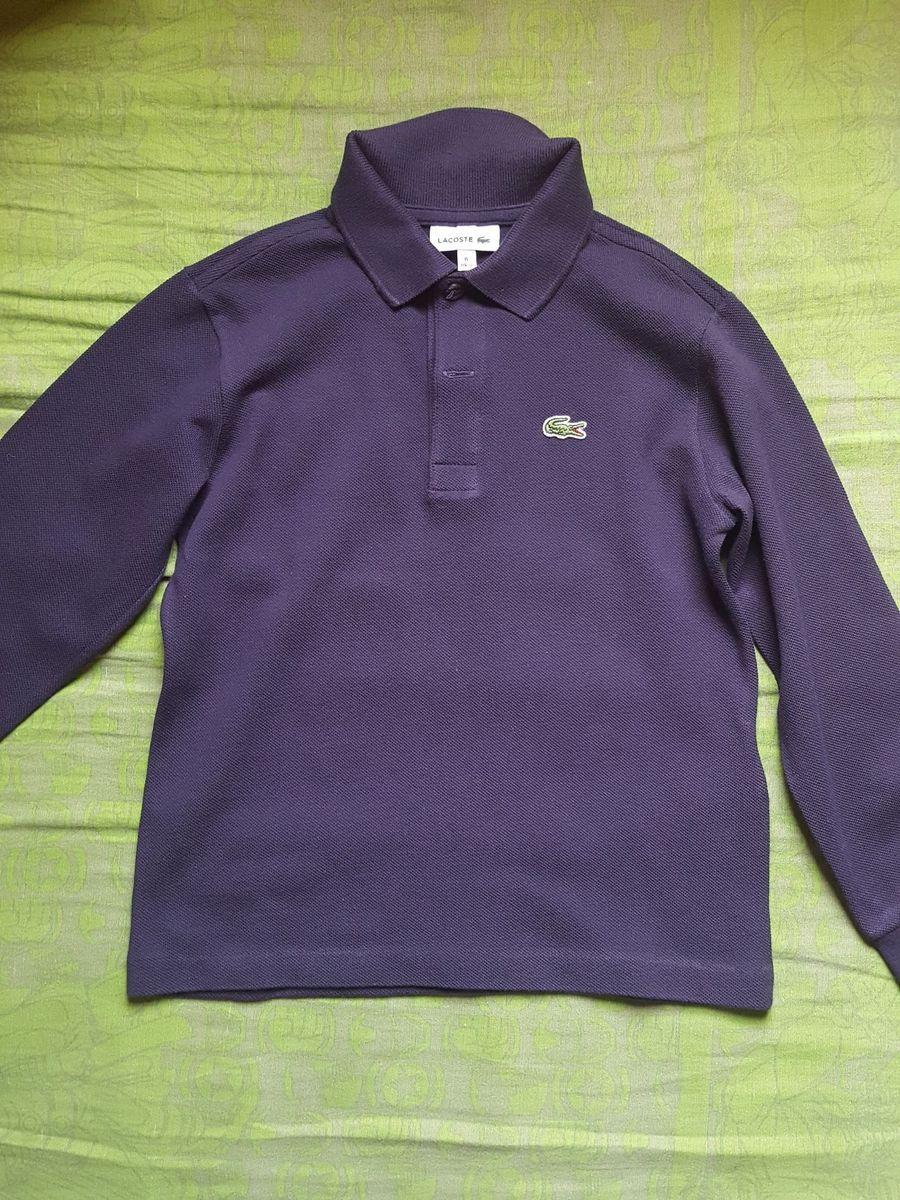 9581b57fc12 camisa polo infantil lacoste manga longa - tamanho 6 - menino lacoste