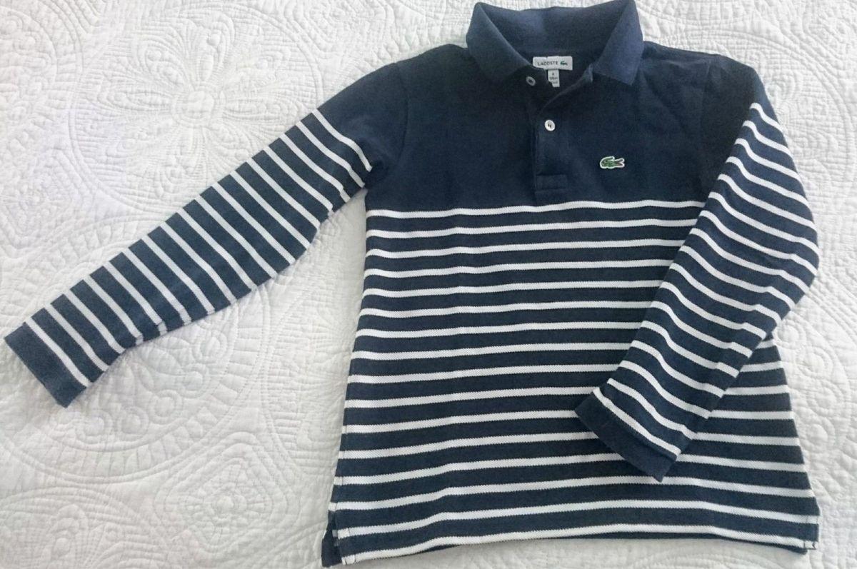 Camisa Pólo Infantil Manga Longa Lacoste   Roupa Infantil para ... 84b3e4ec93