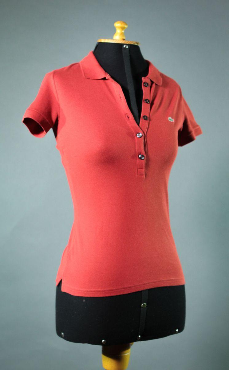 camisa polo lacoste feminina em minipiqué stretch vermelha - camisas lacoste cefd30d654
