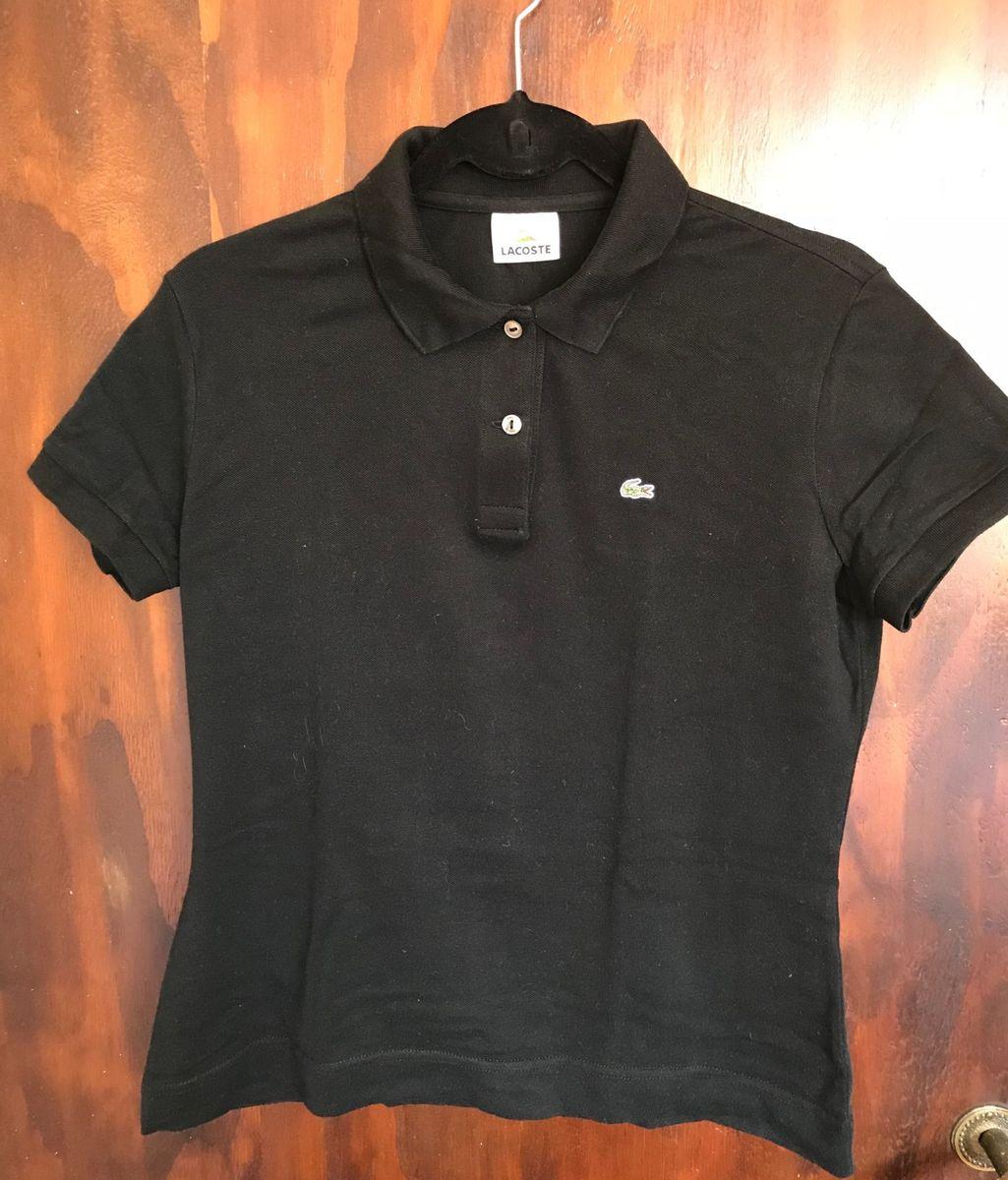 Camisa Polo Lacoste Feminina Preta   Camisa Feminina Lacoste Usado ... 543c1213e7