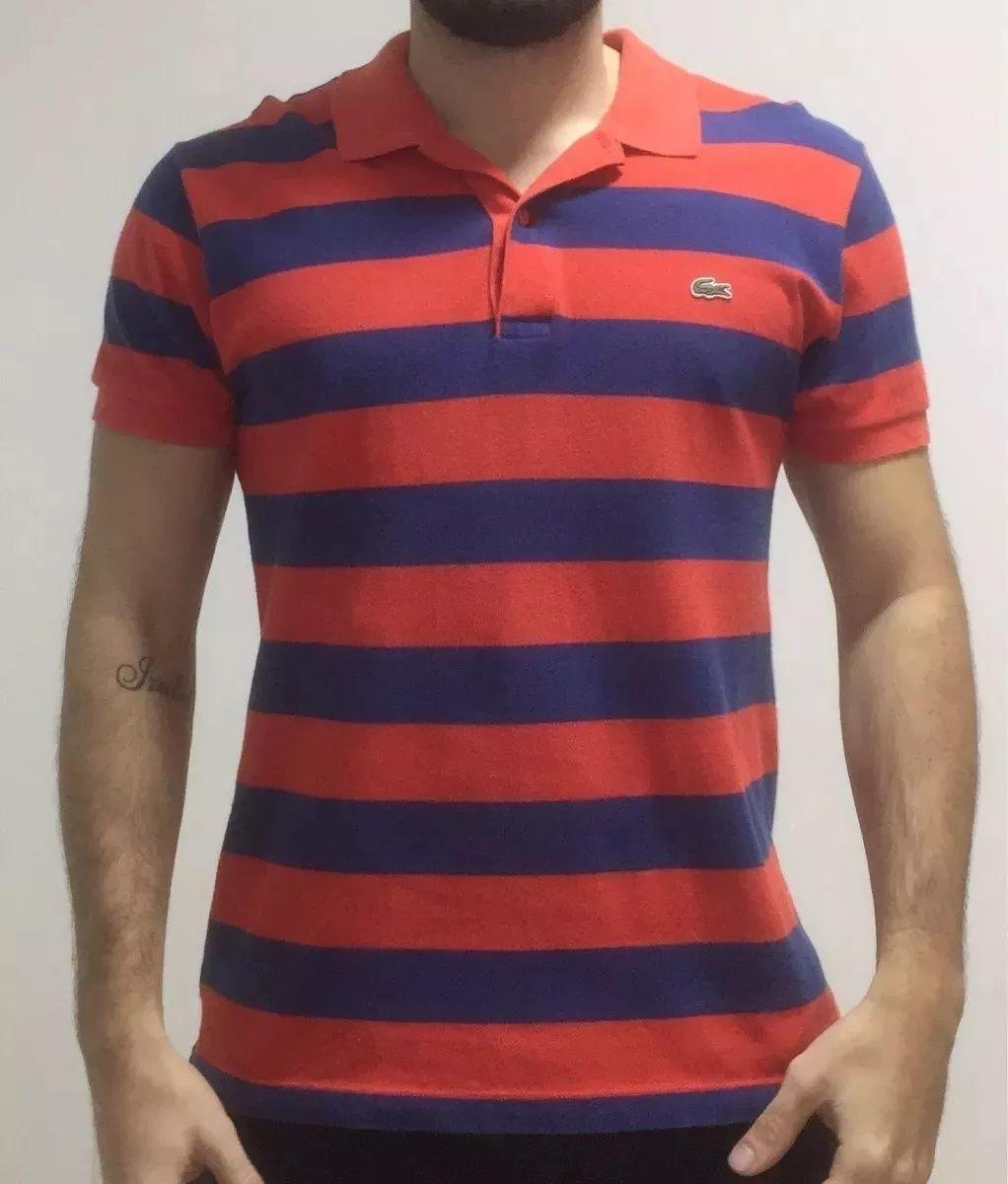 Camisa Polo Lacoste Listrada Original Camisa Masculina Lacoste