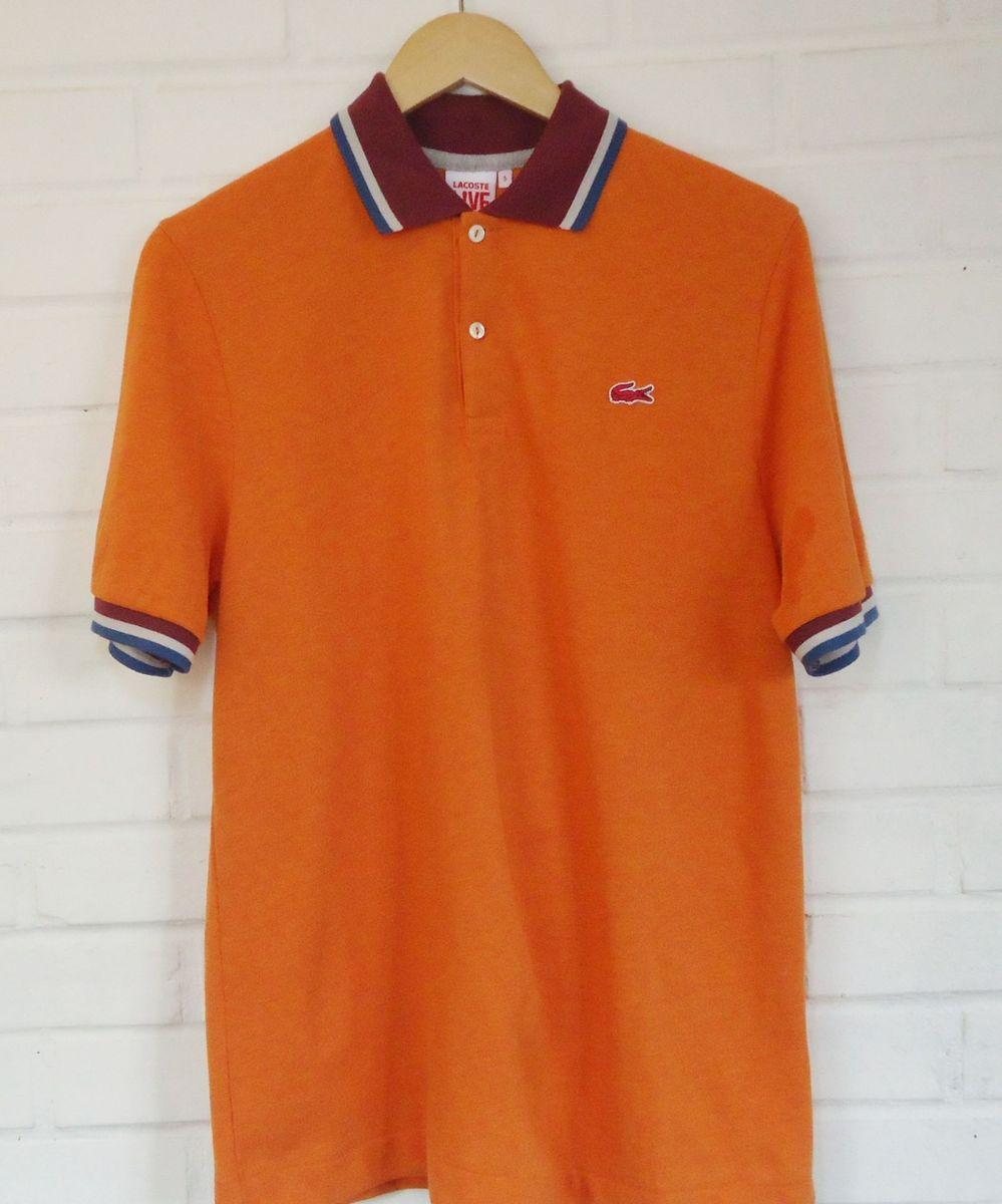 92351b75a8da6 camisa polo lacoste live - modelo limitado laranja - camisas lacoste