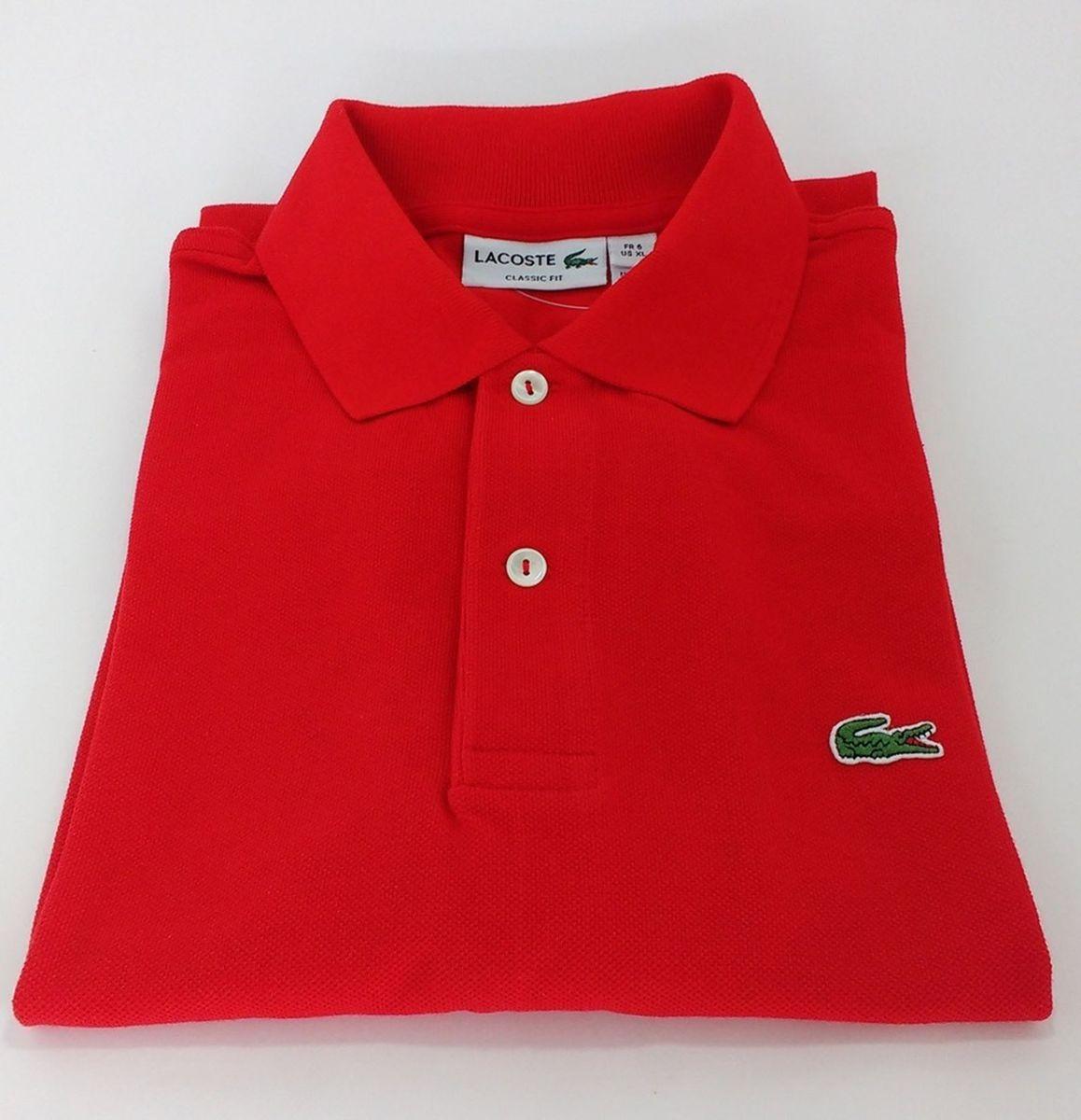 camisa polo lacoste masculina tamanho g - camisas lacoste