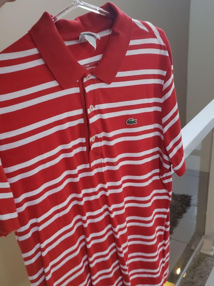 Camisa Polo Lacoste Original Listrada Camisa Masculina Lacoste