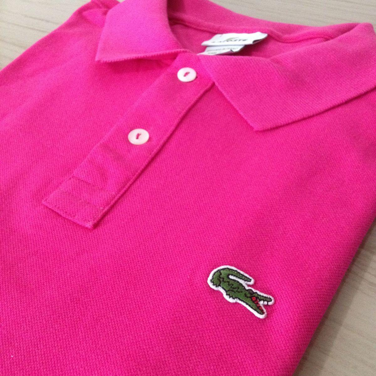 06b7ad5004fa7 camisa polo lacoste pink tam gg 7 original - camisas lacoste