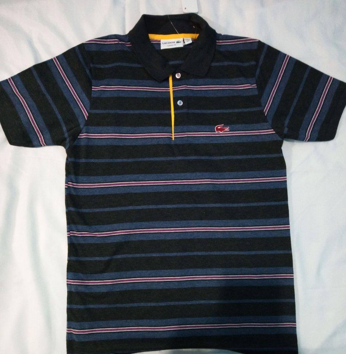 e9d5da1c0a camisa polo lalá masculina roxo e azul escuro p - camisas outras