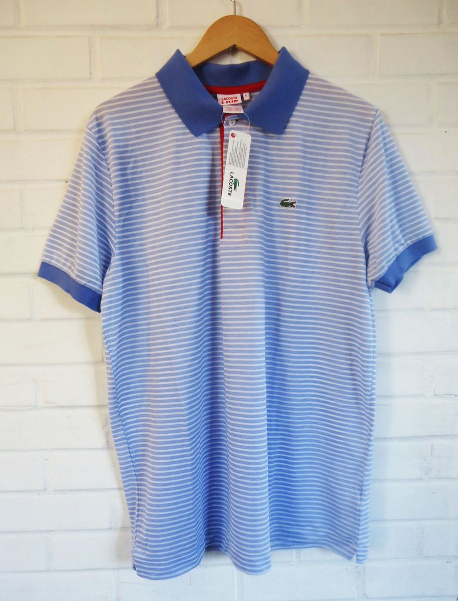 f8bbb286ff182 Camisa Polo Live Lacoste Listrada   Camisa Masculina Lacoste Nunca ...