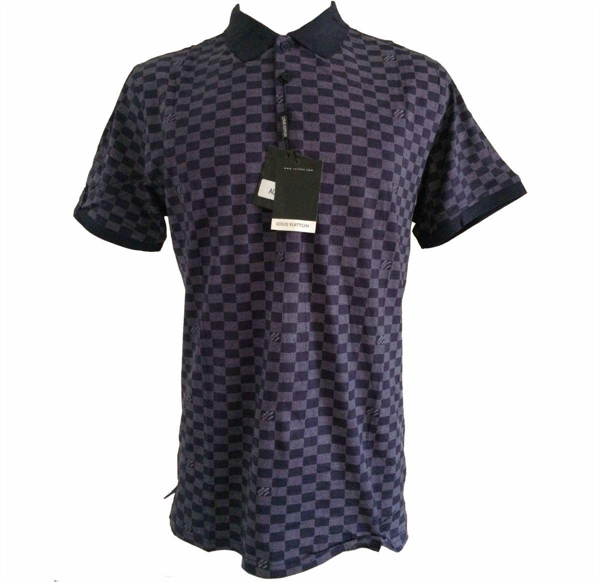 2623458cd camisa polo louis vuitton masculina elastano tam g - camisas louis-vuitton