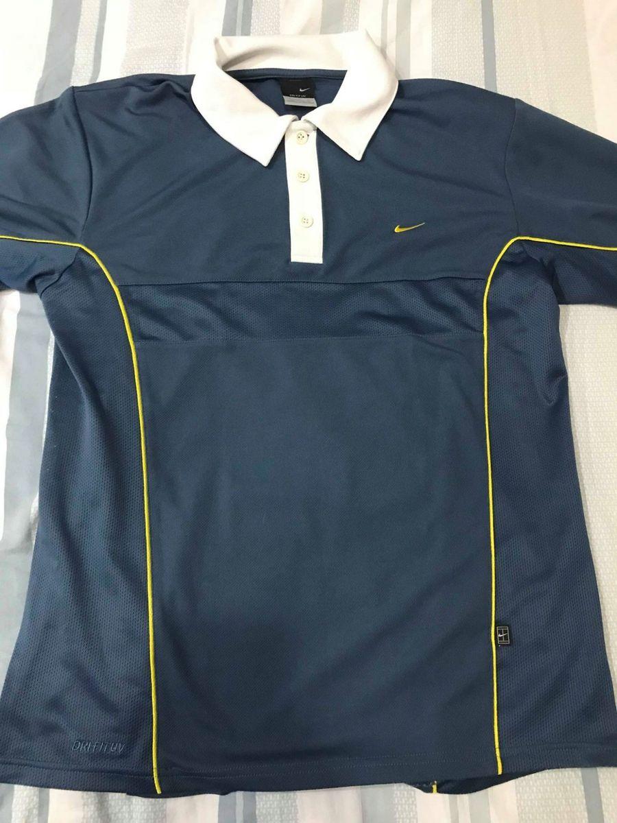camisa polo nike - azul - tamanho m - camisas nike bebf82f2d2374