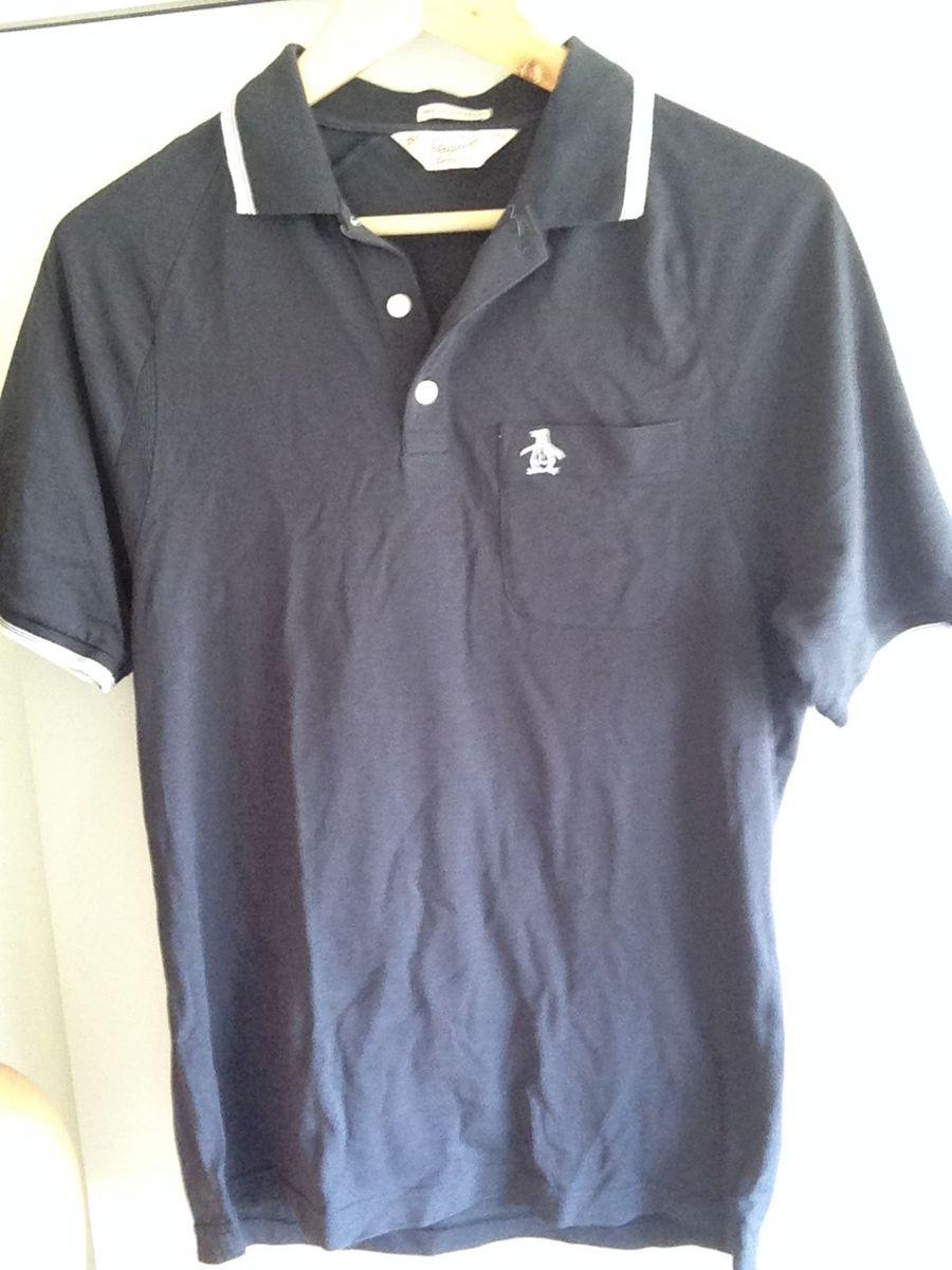 camisa polo polo penguin azul indigo - original - camisetas penguin 1bd9c983d8ab1