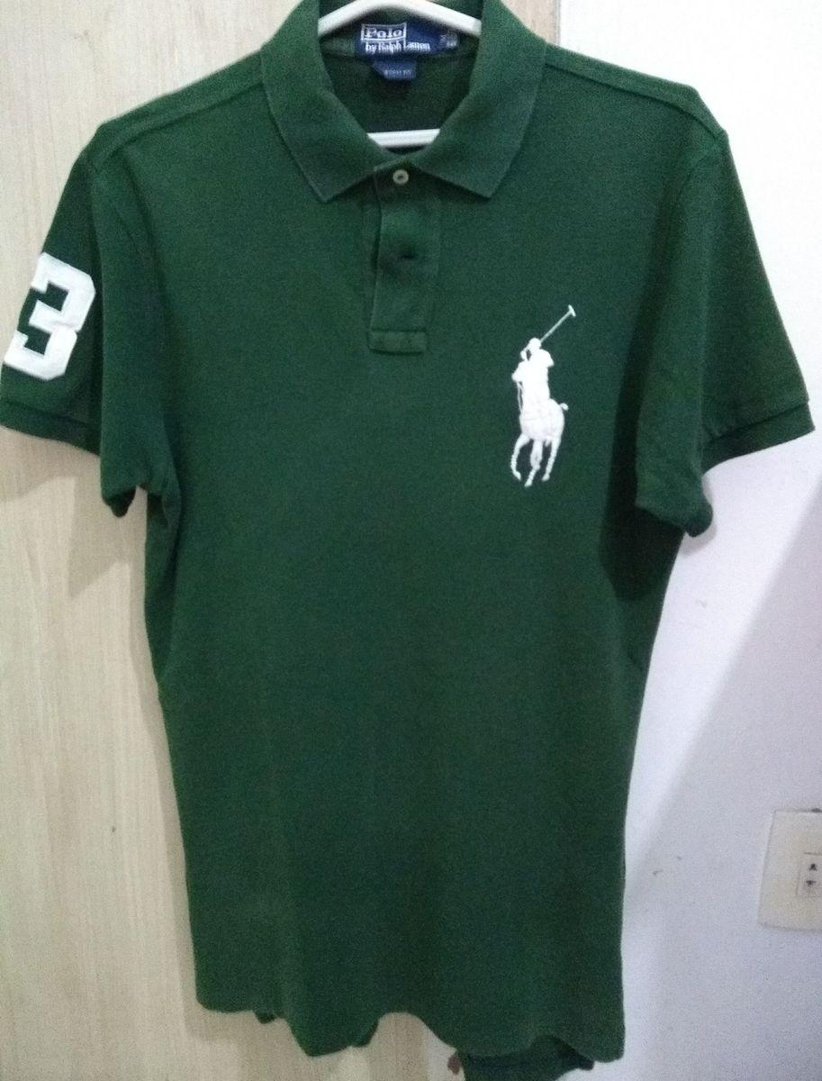 camisa polo ralph lauren custom fit verde - camisas polo ralph lauren fb5ed55d0326d