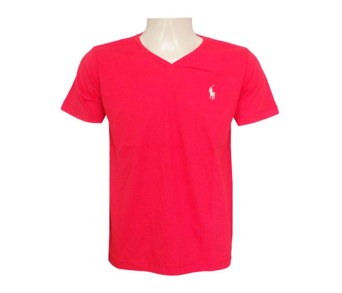 camisa polo ralph lauren gola v vermelha - camisas ralph lauren a4024cff916
