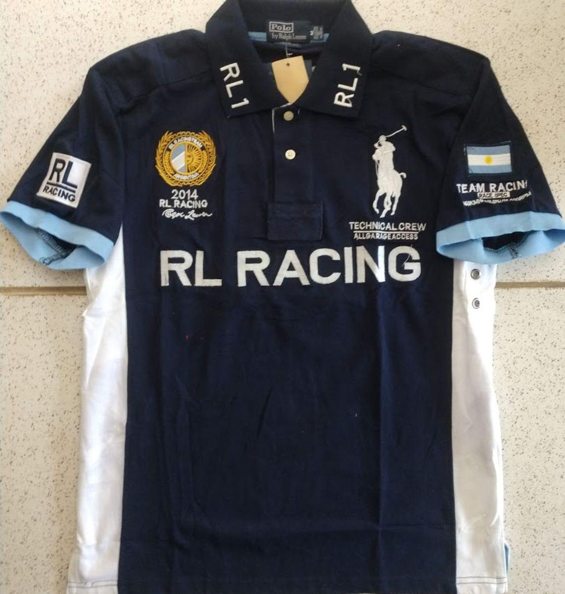 Lauren Ralph M Lamartina Camisa Argentina Tam Polo Marinho Azul F1clKJ