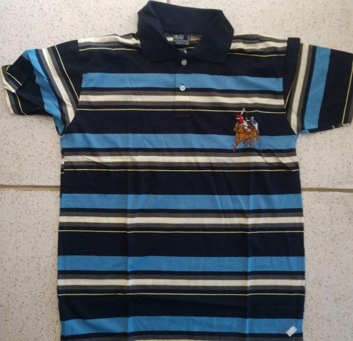 camisa polo ralph lauren listrada com tamanho p - camisetas ralph lauren fcfb7da3695